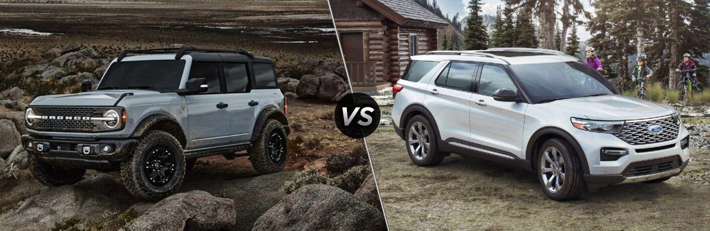 2021 Ford Bronco vs 2020 Ford Explorer