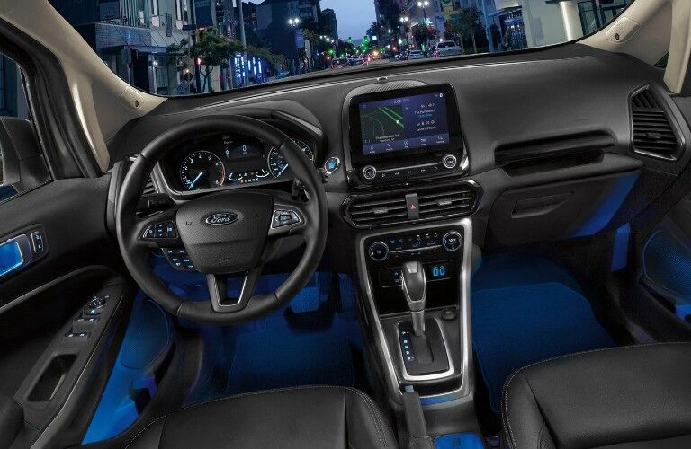 2021 Ford EcoSport dashboard and steering wheel