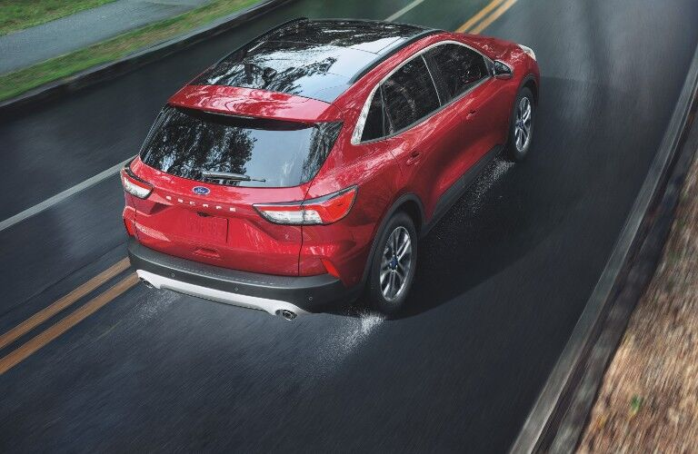2021 Ford Escape on rain-slicked pavement'