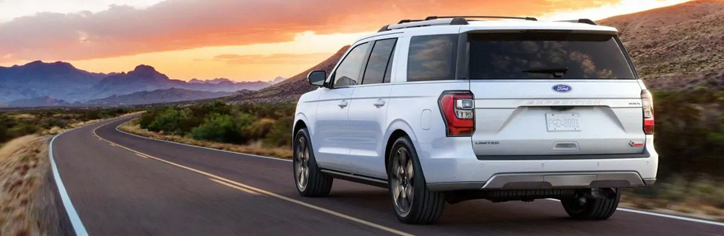 2021 Ford Expedition on road at sunset