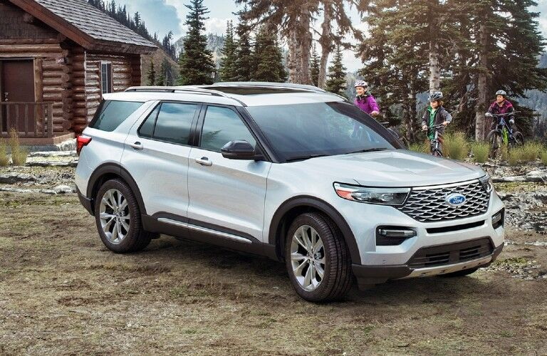 2021 Ford Explorer by log cabin