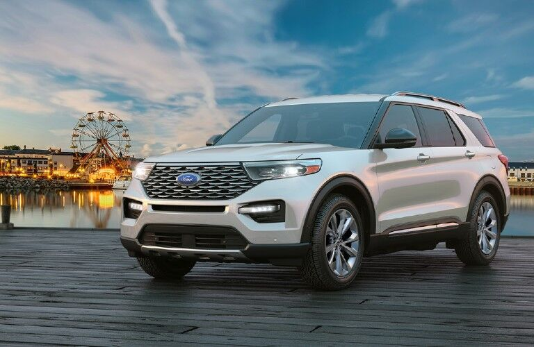 2021 Ford Explorer by scenic boardwalk view