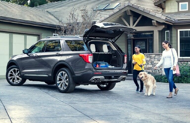 2021 Ford Explorer with open cargo hatch