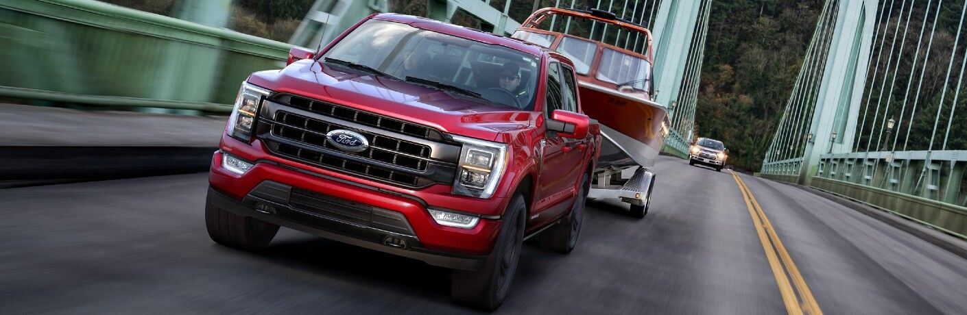 2021 Ford F-150 Hybrid towing boat