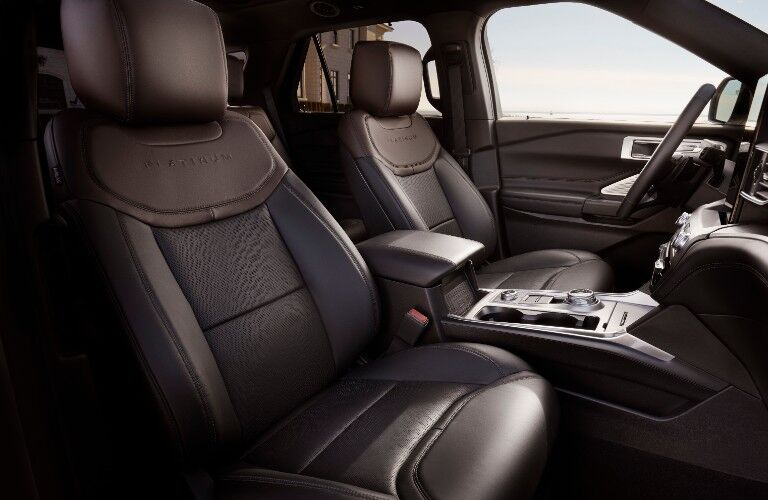 2021 Ford Explorer interior front seats