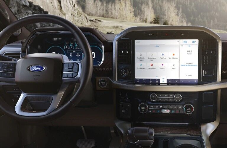 2021 Ford F-150 Dashboard, Steering Wheel and SYNC 4 Infotainment System
