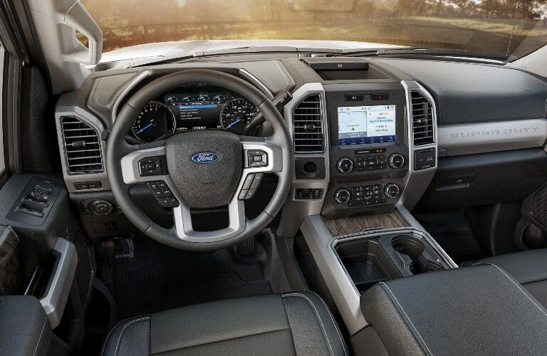 2021 Ford F-250 Super Duty dashboard and steering wheel