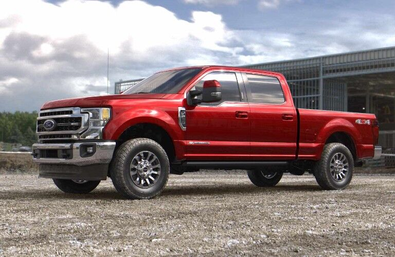 2021 Ford F-350 Super Duty on construction site