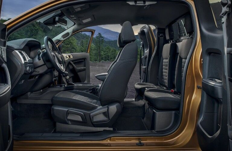 2021 Ford Ranger interior front and rear seats