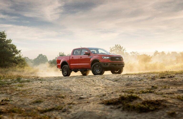 2021 Ford Ranger Tremor on rough terrain