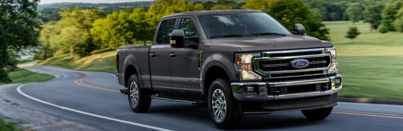2021 Ford Super Duty on country road