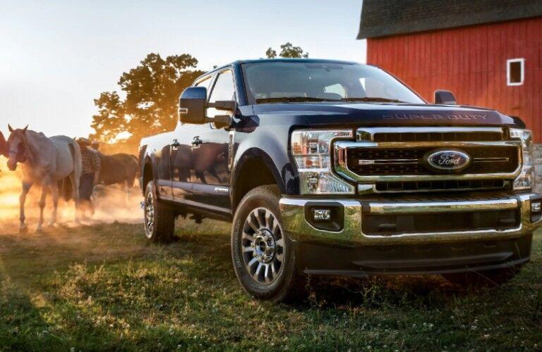 2021 Ford Super Duty on farm