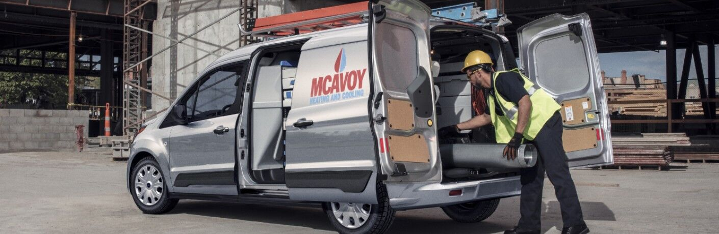 2021 Ford Transit Connect Cargo Van on construction site