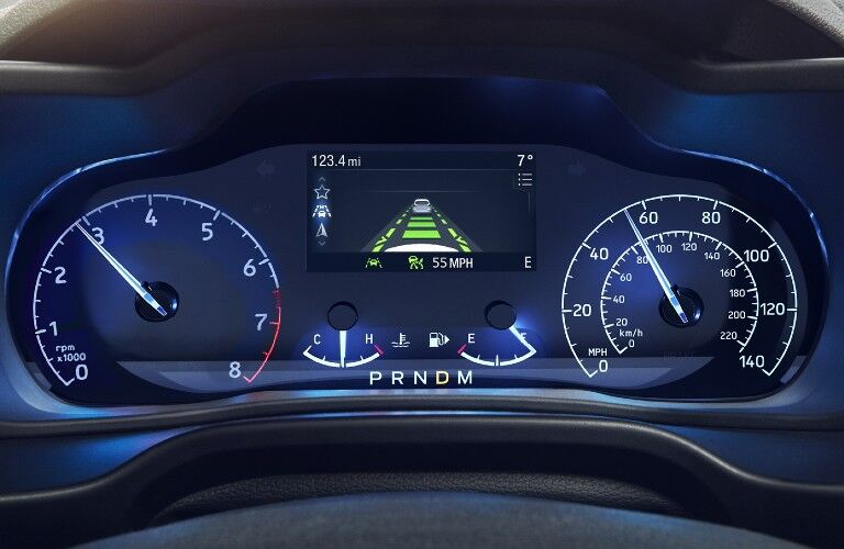 2021 Ford Transit Connect Cargo Van instrument cluster