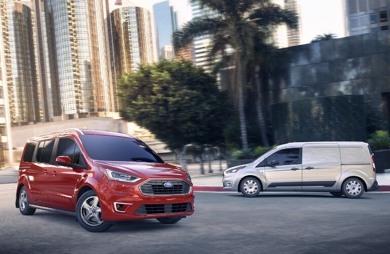 2021 Ford Transit Connect Cargo Van on city street