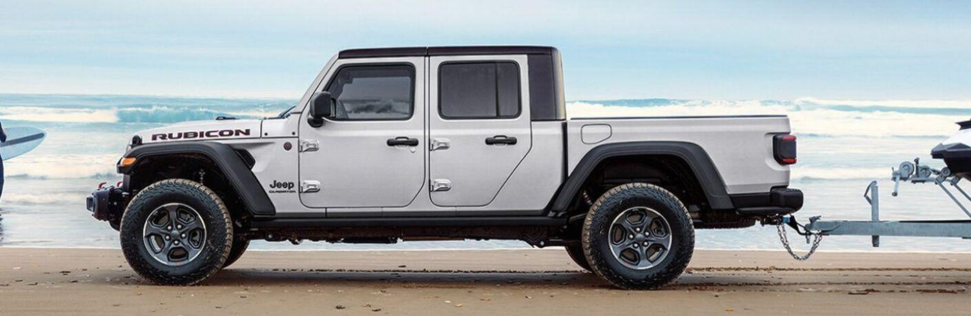 2021 Jeep Gladiator on beach