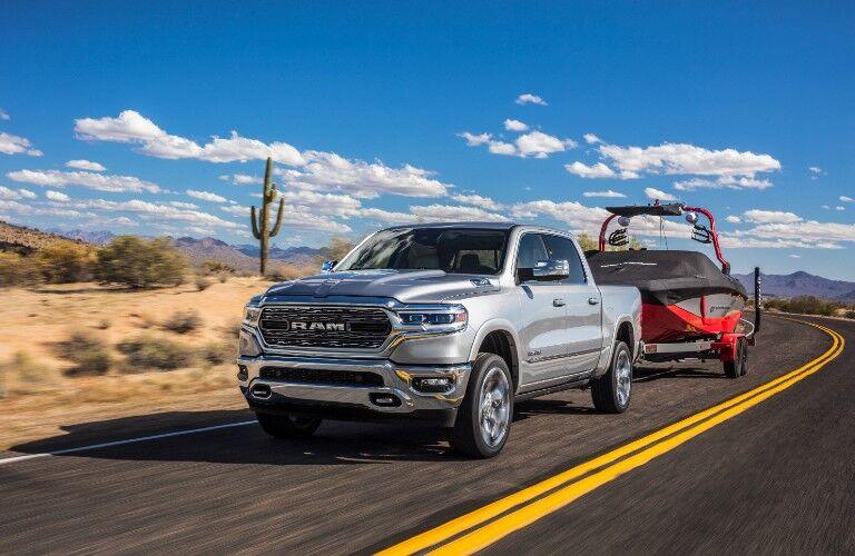 2021 Ram 1500 on desert road