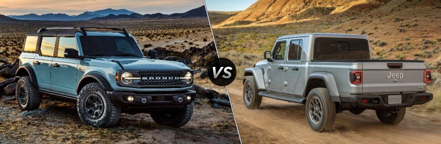2021 Ford Bronco vs 2021 Jeep Gladiator