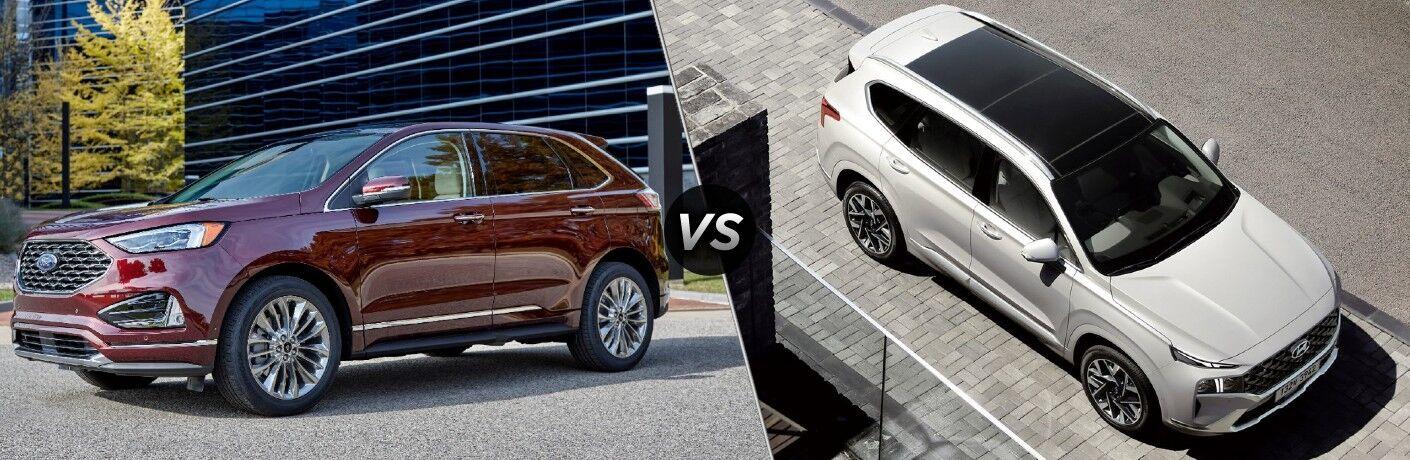 2021 Ford Edge vs 2021 Hyundai Santa Fe