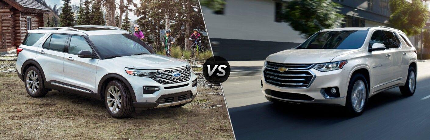 2021 Ford Explorer vs 2021 Chevrolet Traverse
