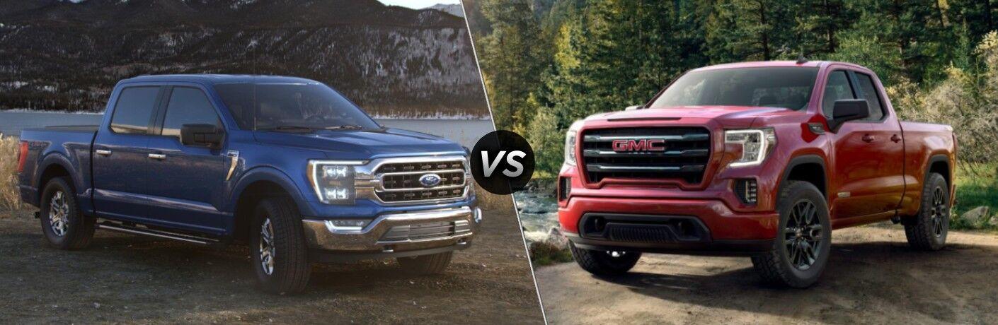 2021 Ford F-150 vs 2021 GMC Sierra 1500