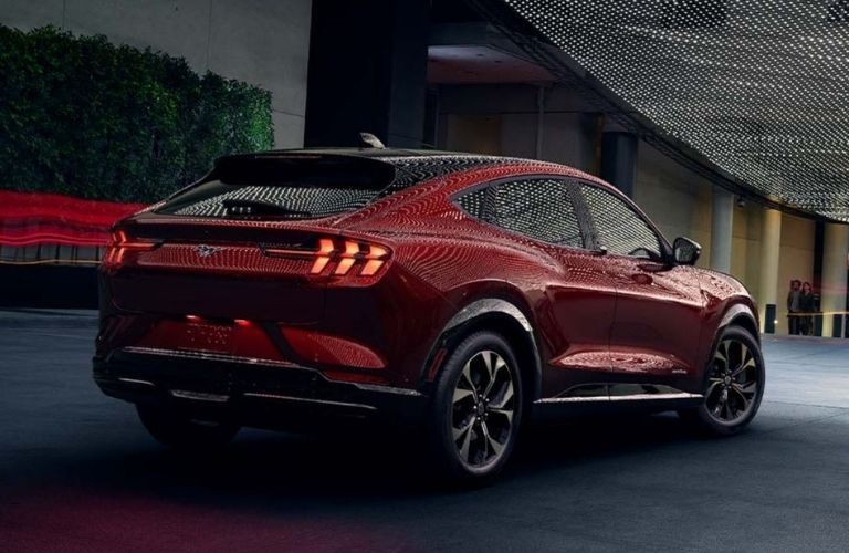 2021 Ford MACH-E Red rear and side view