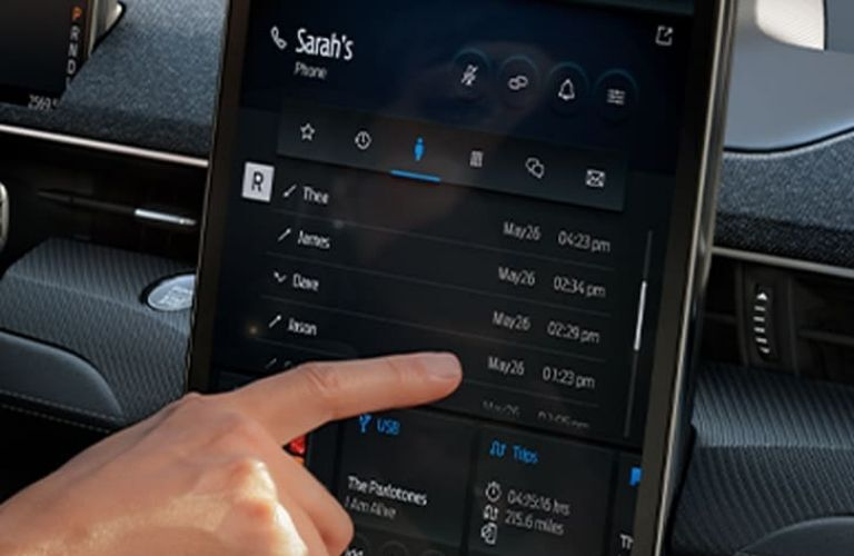 2021 Ford MACH-E interior infotainment system