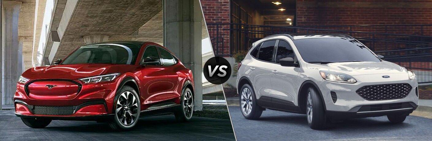 2021 Ford Mustang Mach-E vs 2020 Ford Escape Hybrid