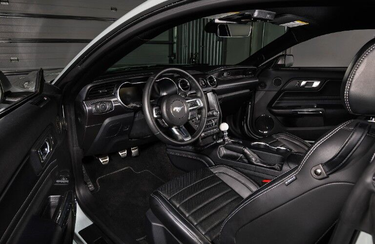 2021 Ford Mustang Mach 1 dashboard and front seats