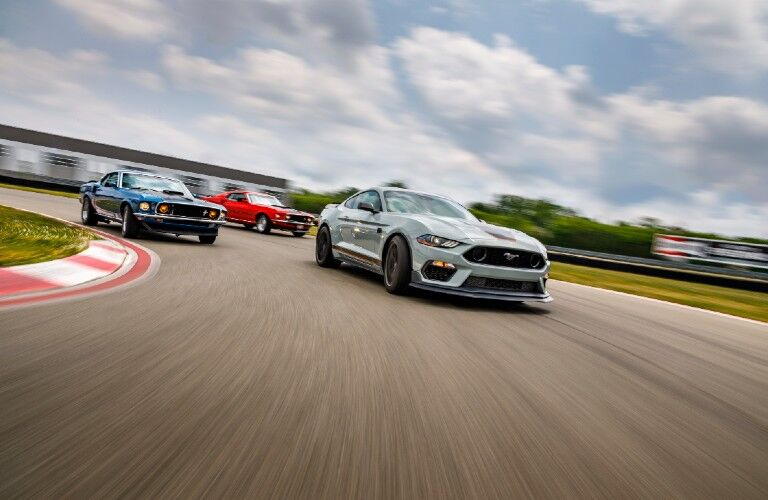 2021 Ford Mustang Mach 1 on track with older Mach 1 models