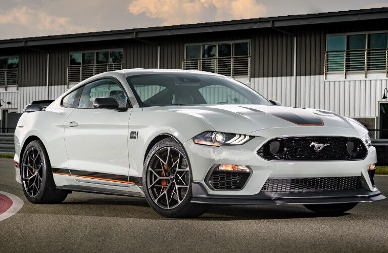 2021 Ford Mustang Mach 1 on track