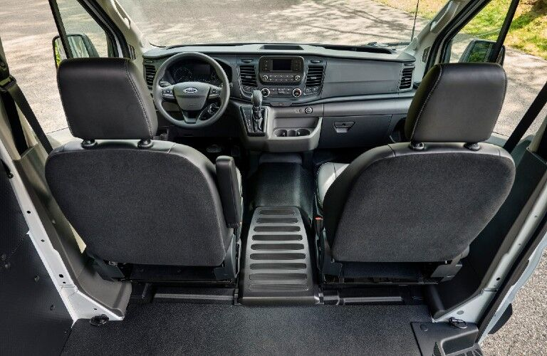 2021 Ford Transit dashboard and steering wheel