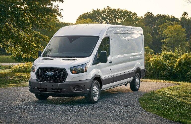 2021 Ford Transit on gravel road