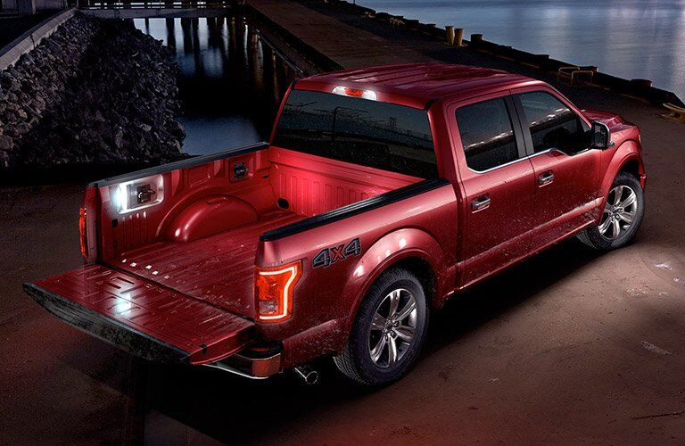 Future Ford F-150 Hybrid rear side top-down exterior