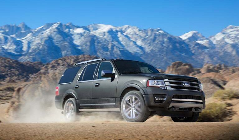 Massive grey Ford Expedition taking to the trails
