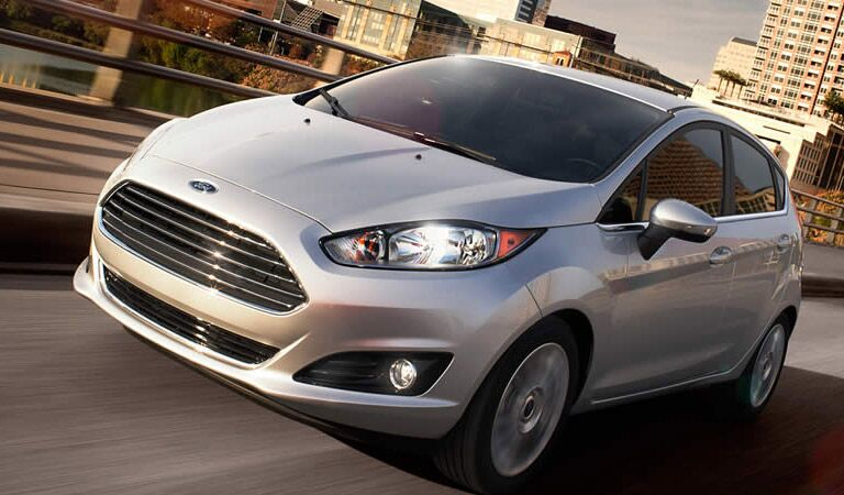 Ford Fiesta affordable small car with a wide grille