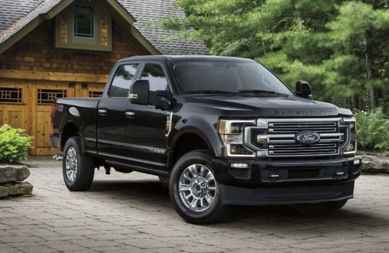 front and side view of the 2021 Ford F-250 Super Duty