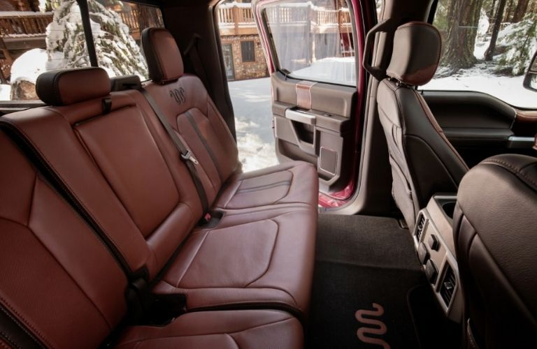 rear seat view of the 2021 Ford F-250 Super Duty