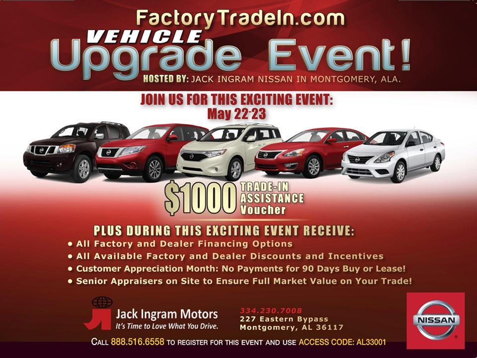 Jack Ingram Nissan Service Department Source · Upgrade Event Jack Ingram  Motors Source · Nissan Dealership Montgomery AL ...