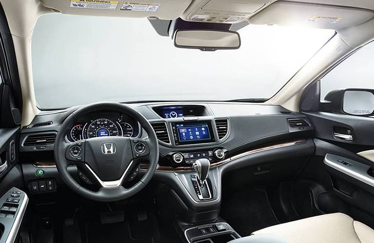 2017 Honda CR-V Interior View of Dashboard and Steering Wheel
