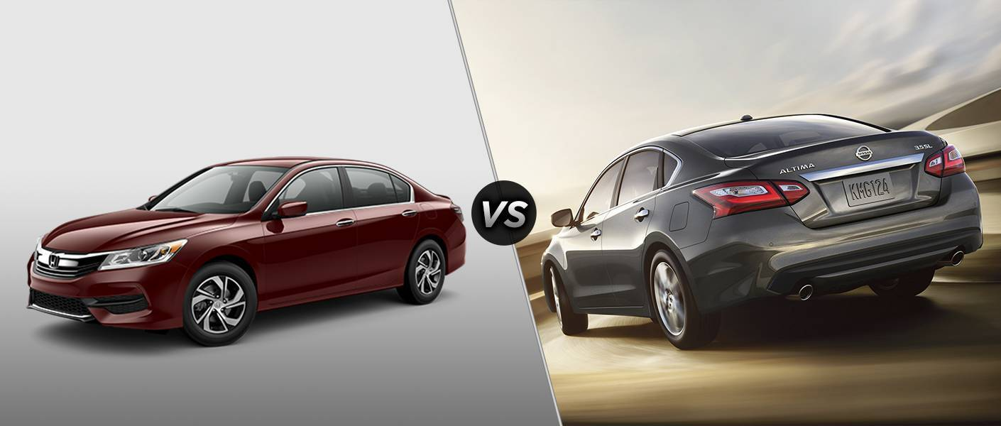 2016 Honda Accord vs 2016 Nissan Altima