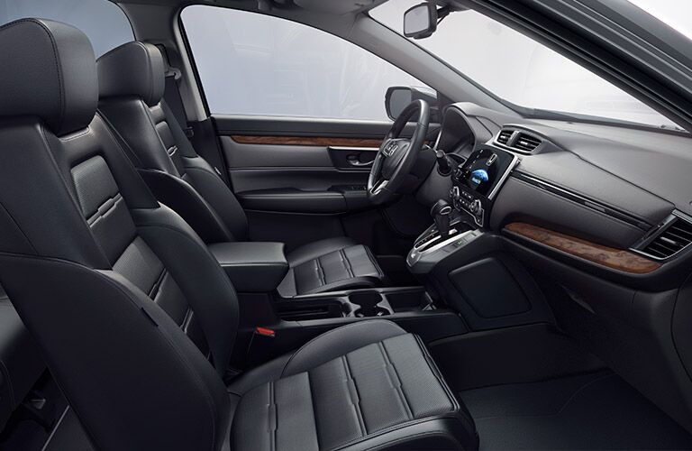 Front Seating in the 2017 Honda CR-V in Black