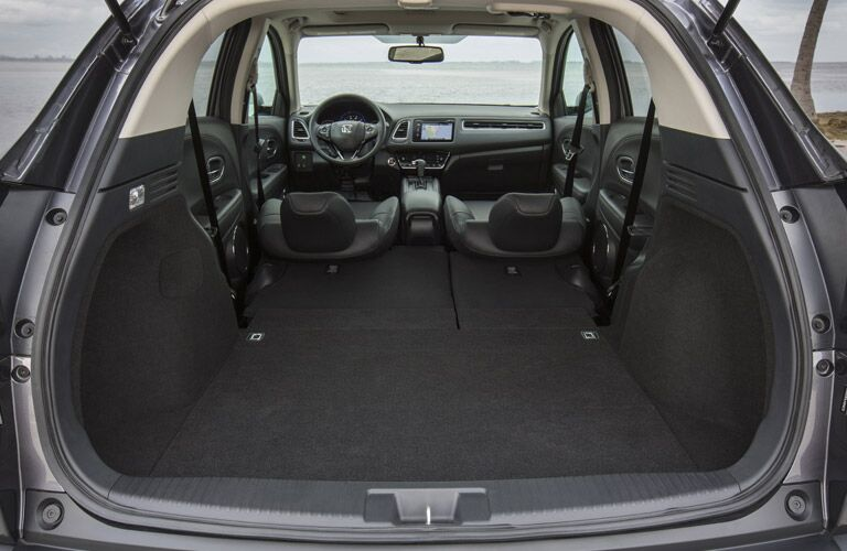View of the 2017 Honda HR-V Cargo Capacity with the Rear Seats Folded Down