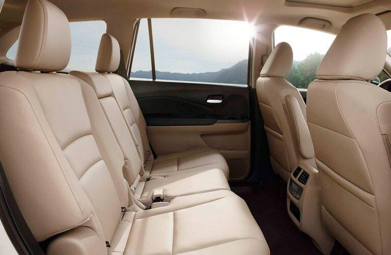 View of Interior Seating in the 2017 Honda Pilot in Cream