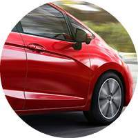 2018 Honda Fit red wheel