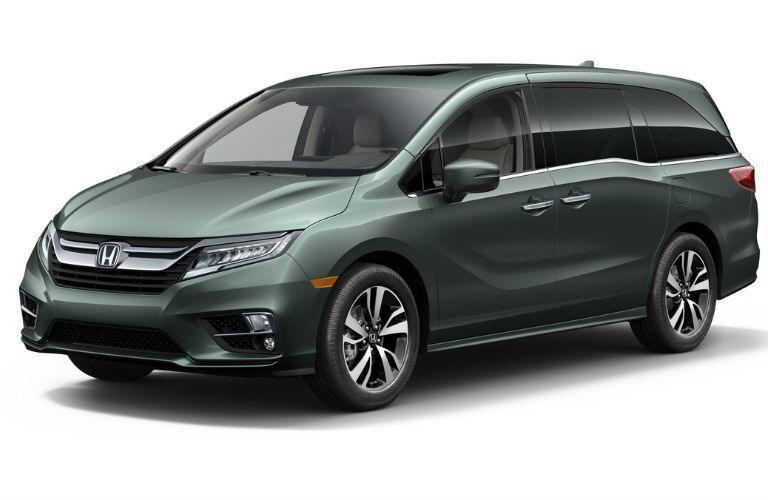 Exterior View of the 2018 Honda Odyssey in Green