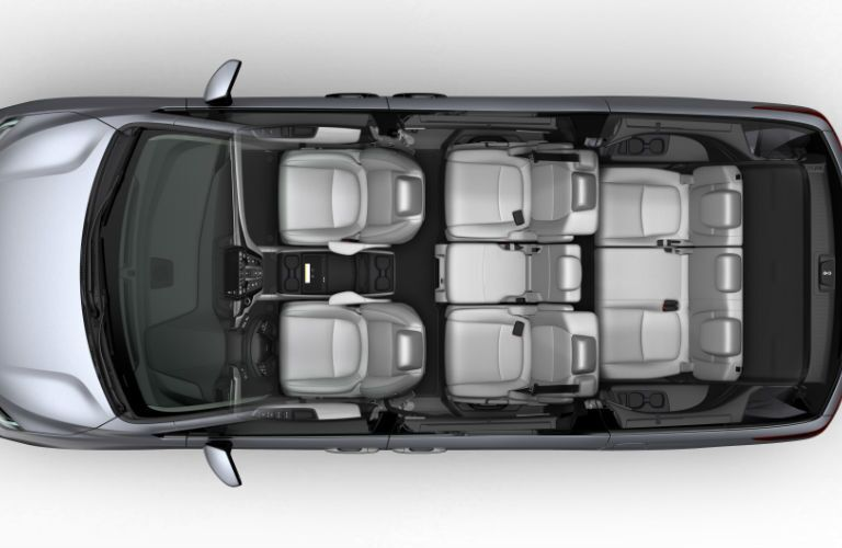 Birds Eye View of the 2018 Honda Odyssey in Silver