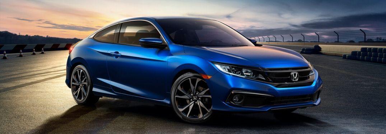 2020 Honda Civic Coupe on track