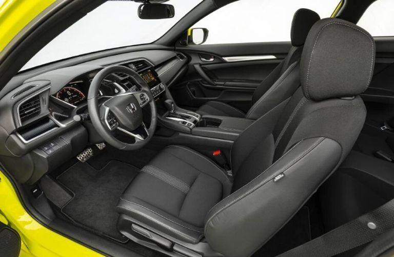 2020 Honda Civic Coupe front seats and dashboard