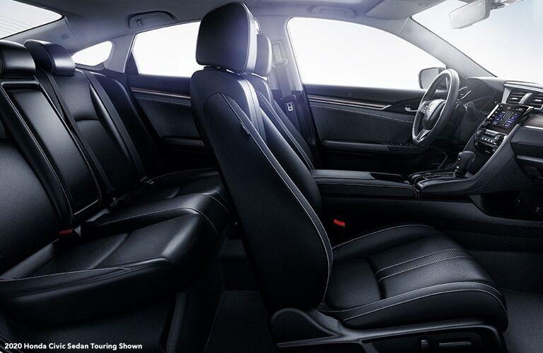 2020 Honda Civic Sedan front and rear seats